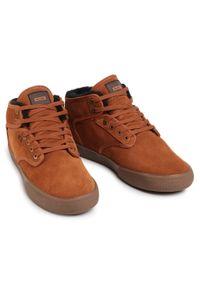 Globe - Sneakersy GLOBE - Motley Mid GBMOTLEYM Hazel/Tobacco/Fur 16331. Okazja: na spacer, na co dzień. Kolor: brązowy. Materiał: skóra, zamsz. Szerokość cholewki: normalna. Styl: elegancki, sportowy, casual