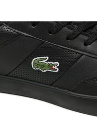 Lacoste - Sneakersy LACOSTE - Court-Master 0721 1 7-41CMA003602H Blk/Blk. Okazja: na co dzień. Kolor: czarny. Materiał: skóra ekologiczna, materiał. Szerokość cholewki: normalna. Styl: elegancki, sportowy, klasyczny, casual