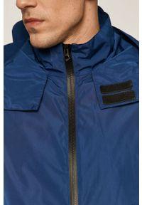 Niebieska kurtka medicine casualowa, gładkie, na co dzień, z kapturem