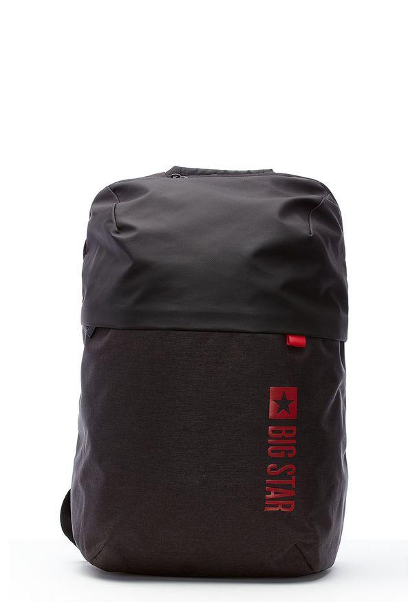 Czarny plecak Big Star Accessories z nadrukiem