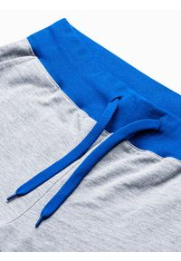Ombre Clothing - Krótkie spodenki męskie dresowe P29 - szaro-niebieskie - XXL. Kolor: szary. Materiał: dresówka. Długość: krótkie. Styl: klasyczny #2