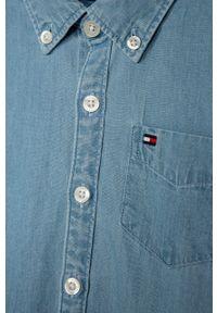 Niebieska koszula TOMMY HILFIGER z długim rękawem, długa, casualowa