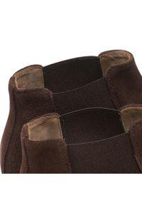 Brązowe buty zimowe Ryłko casualowe, na co dzień, z cholewką