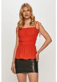 Beatrice B - Bluzka. Kolor: czerwony. Materiał: tkanina