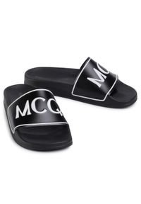 Czarne klapki MCQ Alexander McQueen na co dzień, casualowe