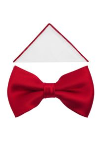 Adam Collection - Czerwona elegancka mucha męska o delikatnym połysku A9. Kolor: czerwony. Materiał: tkanina, poliester. Styl: elegancki