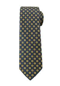 Casualowy Krawat Męski w Żółte Kółka -6,5cm- Chattier, Wielokolorowy. Okazja: na co dzień. Kolor: wielokolorowy. Materiał: tkanina. Wzór: grochy. Styl: casual