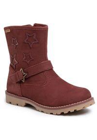Czerwone buty zimowe Lasocki Kids z aplikacjami