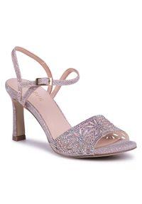 Różowe sandały Menbur wizytowe