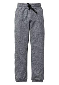 Spodnie chłopięce dresowe (2 pary) bonprix czarno-szary melanż. Kolor: czarny. Materiał: dresówka. Wzór: melanż
