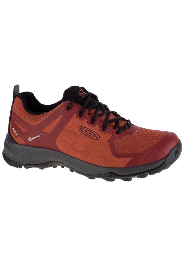 Czerwone buty trekkingowe keen z cholewką