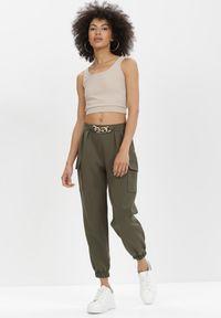 Born2be - Khaki Spodnie Nyxanise. Kolor: brązowy #6