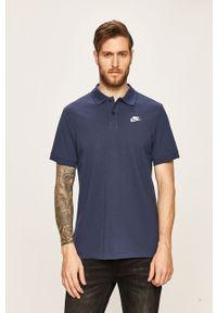 Niebieska koszulka polo Nike Sportswear krótka, casualowa