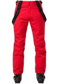 Rossignol - ROSSIGNOL Spodnie narciarskie męskie COURSE Red. Sport: narciarstwo