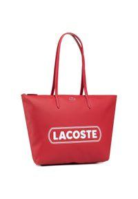 Czerwona torebka klasyczna Lacoste casualowa