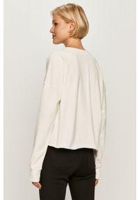 Biała bluza DKNY casualowa, na co dzień, długa, z długim rękawem