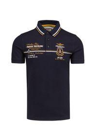 Aeronautica Militare - Koszulka polo AERONAUTICA MILITARE. Typ kołnierza: polo. Materiał: bawełna, elastan. Wzór: haft, ze splotem. Styl: elegancki