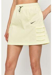 Zielona spódnica Nike Sportswear casualowa, na co dzień, gładkie