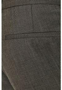Hugo - Spodnie. Kolor: szary. Materiał: tkanina