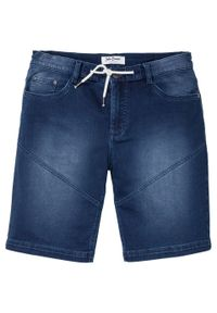 """Bermudy dżinsowe ze stretchem Regular Fit bonprix niebieski """"stone"""". Kolor: niebieski"""