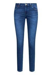 Wrangler Jeansy W28KZM23Z Granatowy Skinny Fit. Kolor: niebieski