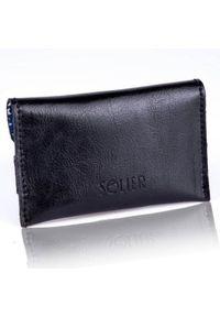 Czarny portfel Solier