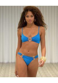 BEACH BUNNY - Niebieski top od bikini Lexie z brokatem. Kolor: niebieski