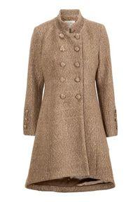 Beżowa kurtka Cream elegancka, na jesień, melanż