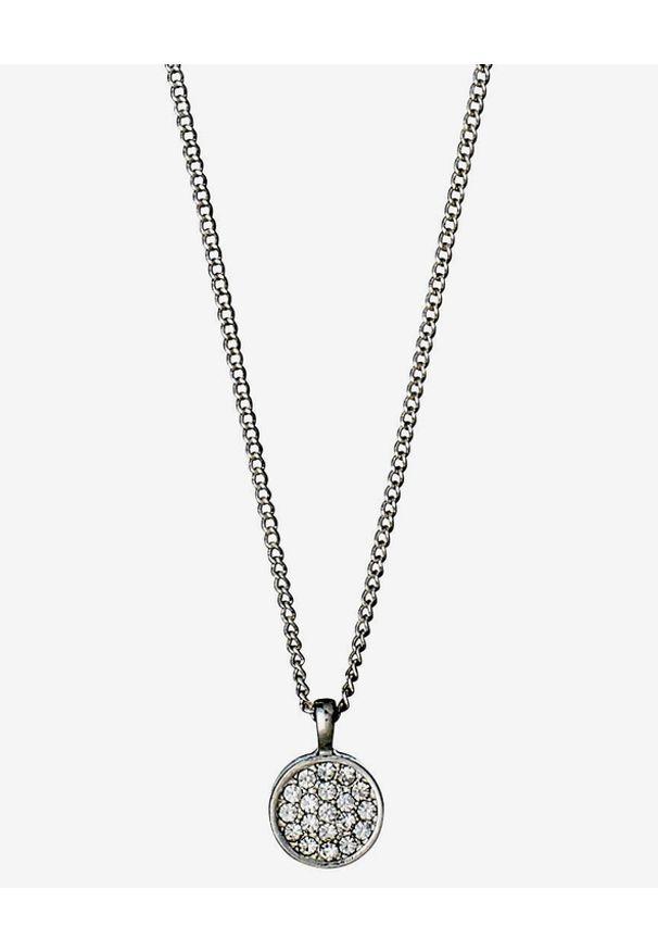 Srebrny naszyjnik Pilgrim z mosiądzu, w kolorowe wzory, z kryształem