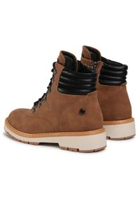 Brązowe buty trekkingowe Refresh z cholewką