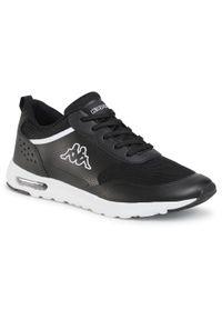 Kappa - Sneakersy KAPPA - Darwin 242909 Black/White 1110. Okazja: na spacer, na co dzień. Kolor: czarny. Materiał: skóra ekologiczna, materiał. Szerokość cholewki: normalna. Sezon: lato. Styl: casual