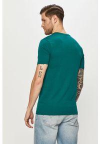 Zielony t-shirt Fila gładki, casualowy, na co dzień