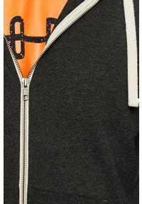 Szara bluza rozpinana Jack & Jones z kapturem, na co dzień