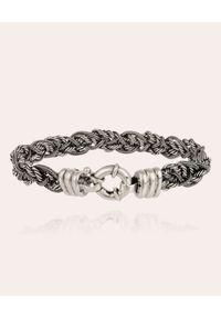 GAS BIJOUX - Srebrna pleciona bransoletka Tristan. Materiał: srebrne. Kolor: srebrny