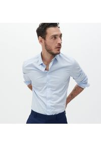 Reserved - Koszula slim fit z bawełny organicznej - Niebieski. Kolor: niebieski. Materiał: bawełna