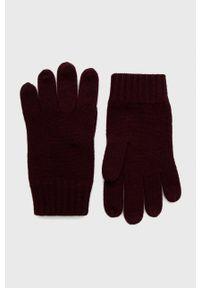 Polo Ralph Lauren - Rękawiczki. Kolor: czerwony. Materiał: dzianina