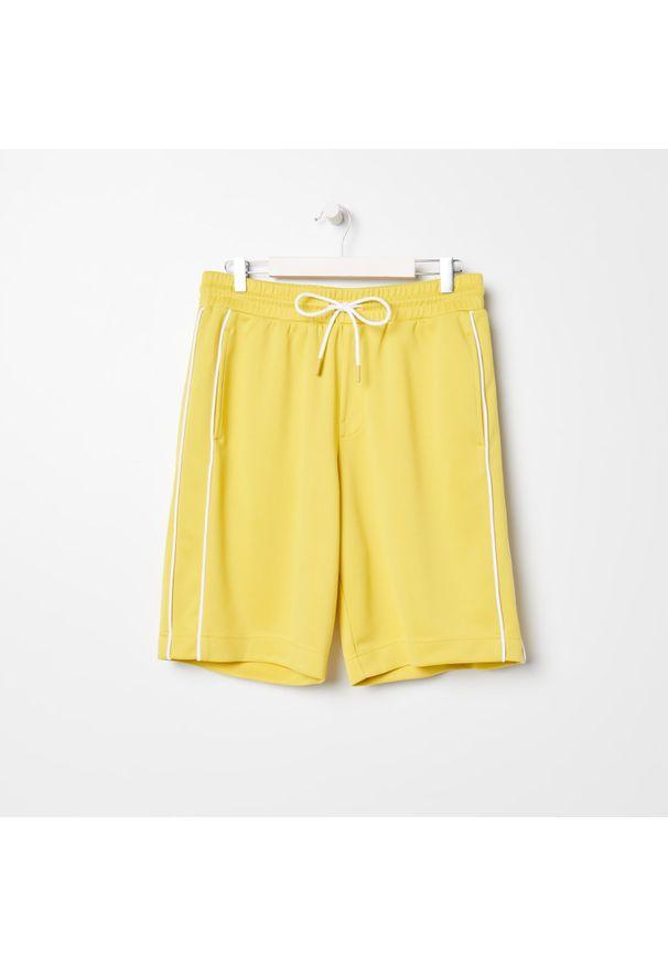 Sinsay - Szorty - Żółty. Kolor: żółty