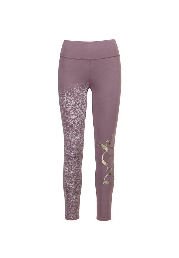 Deha - Legginsy do jogi DEHA MOVE. Stan: podwyższony. Materiał: elastan, włókno, lycra, materiał, bawełna. Długość: długie. Wzór: nadruk