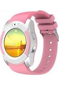 Różowy zegarek smartwatch