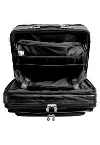 Czarna torba na laptopa MCKLEIN elegancka, w kolorowe wzory
