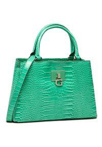 Guess - Torebka GUESS - Carabel (CG) HWCG79 72060 GRE. Kolor: zielony. Materiał: skórzane. Rodzaj torebki: na ramię