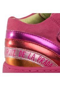 Różowe półbuty Agatha Ruiz de la Prada na spacer, na rzepy