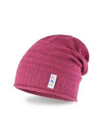 Wiosenna czapka dziewczęca PaMaMi - Czerwony. Kolor: czerwony. Materiał: bawełna, elastan. Sezon: wiosna