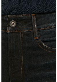 Niebieskie jeansy G-Star RAW na co dzień, casualowe, z podwyższonym stanem