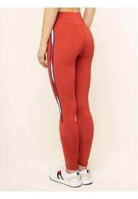 Czerwone legginsy Tommy Sport sportowe