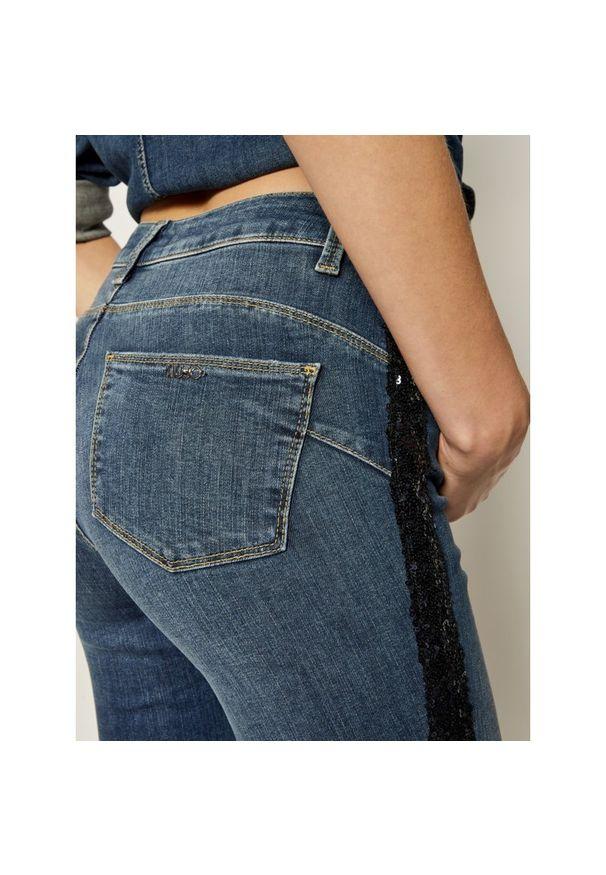 Niebieskie jeansy slim Liu Jo Sport sportowe