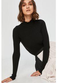 Czarny sweter Answear Lab z golfem, z długim rękawem