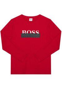 BOSS - Boss Bluzka J25G32 S Czerwony Regular Fit. Kolor: czerwony