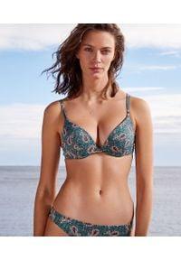 Wielokolorowe góra bikini Etam z nadrukiem