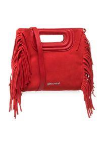 Czerwona torebka klasyczna Gino Rossi zamszowa